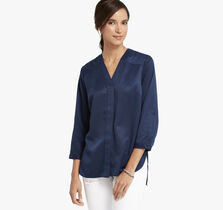 Y-Neck Blouse
