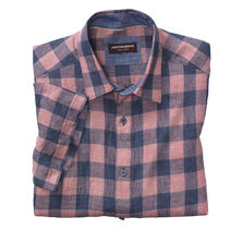 Large Gingham Linen Camp Shirt