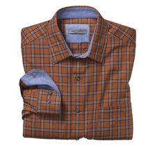Tailored Fit Windowpane Twill Shirt