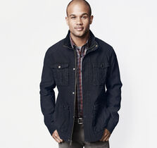 Washed Twill Four-Pocket Jacket