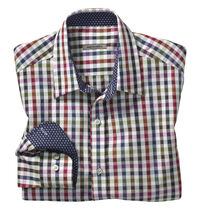 Slim Fit Multi Gingham Shirt