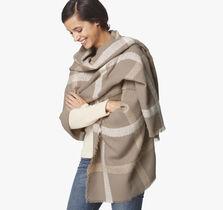 Windowpane Blanket Wrap