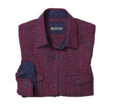 Slim Fit Slub Gingham Shirt