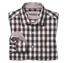Tailored Fit Large Shadow Gingham Shirt