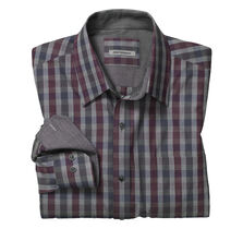 Tailored Fit Heather Gingham Shirt