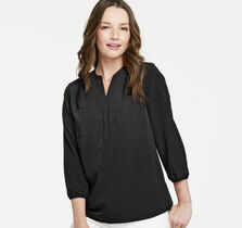 Three-Quarter Sleeve Piped Popover