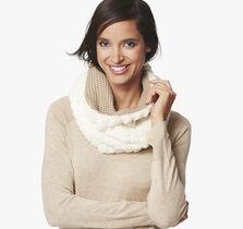 Faux Fur/Knit Loop Scarf