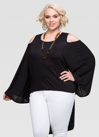 Cold Shoulder Hi-Lo Top