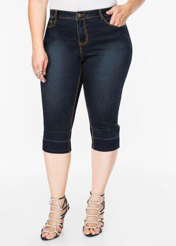 Release Hem Denim Capri Indigo - Jeans