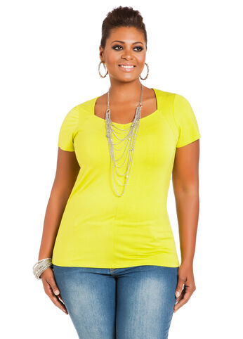 Sweetheart Neck Short-Sleeve Top