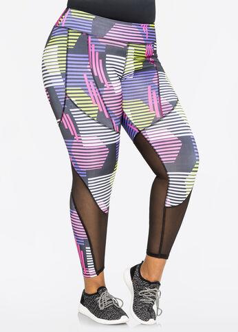 Printed Mesh Active Legging
