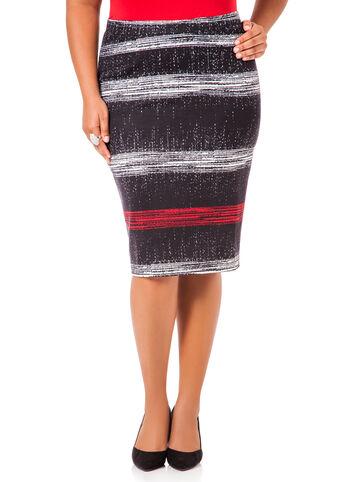 Abstract Ponte Skirt