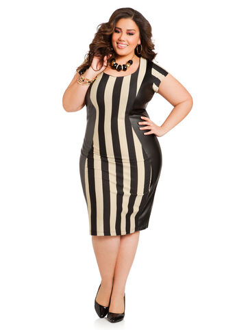 Referee Stripe Sheath Dress