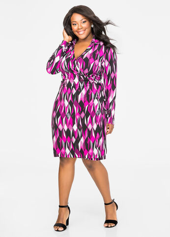 Printed Classic Wrap Dress