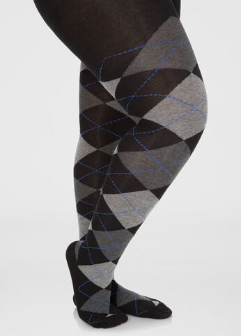 Footed Argyle Sweater Tights