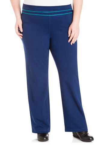 Contrast Detail Active Pants