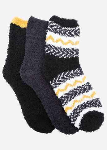 Tribal Stripe 3-Pack Cozy Socks