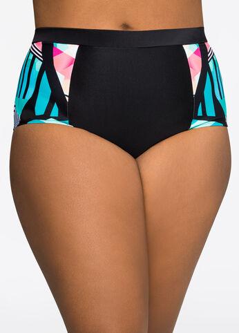 Tropi-Print Power Mesh Bikini Bottom