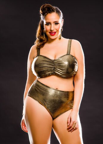 Solid Bra Bikini Top
