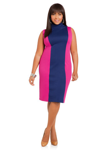 Sleeveless Color Block Sheath