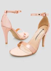 Metallic Dress Sandal - Wide Width