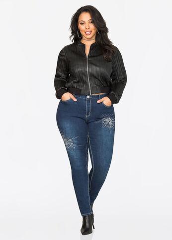 Sequin Burst Skinny Jean