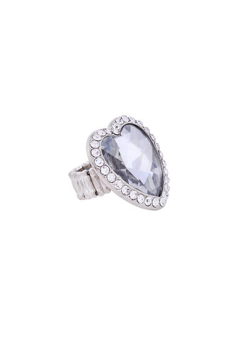 Crystal Heart Stretch Ring