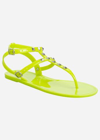 Studded Jelly Sandal - Wide Width