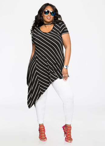 Striped Asymmetrical Tunic