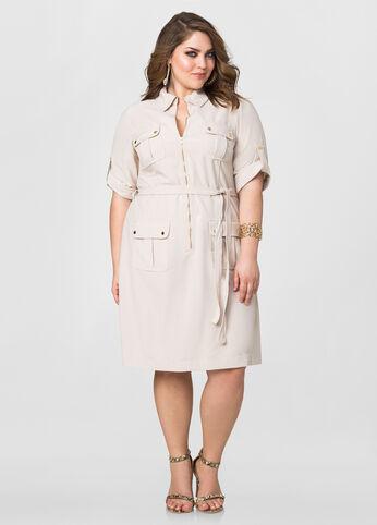 Cargo Zip Front Dress