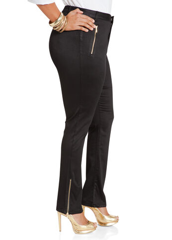 Zipper Detail Skinny Pants