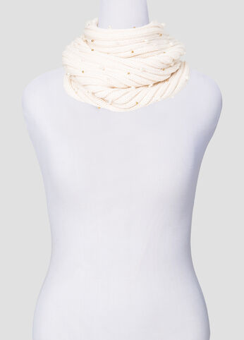 Metallic Bead Snoud Scarf at Ashley Stewart