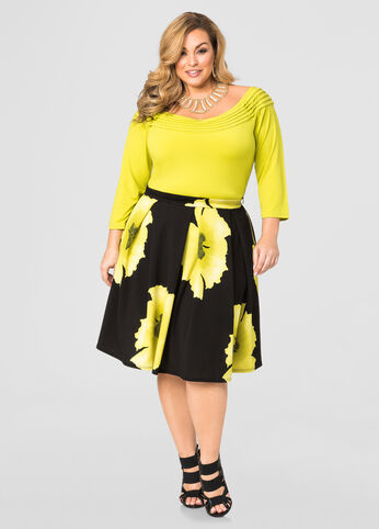 Floral Pleat Skirt