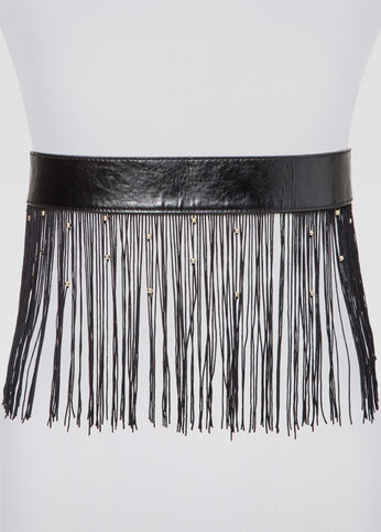 Beaded Fringe Skirt Belt