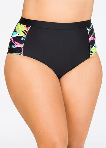 Splatter Power Mesh Bikini Bottom