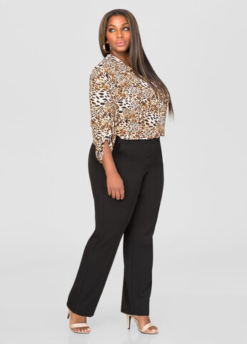 The Power Pant - Petite Extended Sizes Black - Jeans