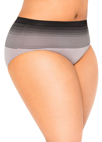 Ombre Stripe Seamless Brief Panty
