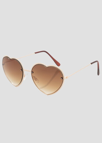 Plus Size Gold Trim Wayfarer Sunglasses Gold