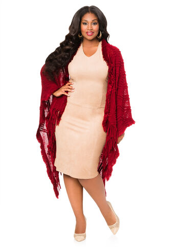 Nubby Textured Knit Ruana