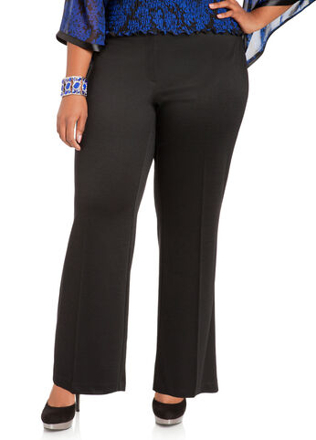 Wide Leg Ponte Trousers