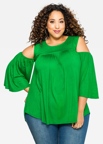 Cold Shoulder Circle Top