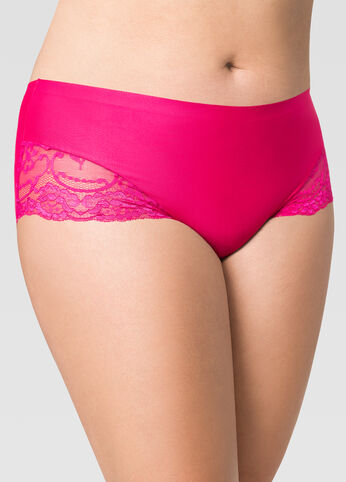 Solid Micro Lace Insert Panty