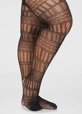 Multi Pattern Net Tights