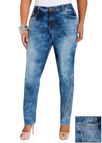 Bejeweled Skinny Jeans
