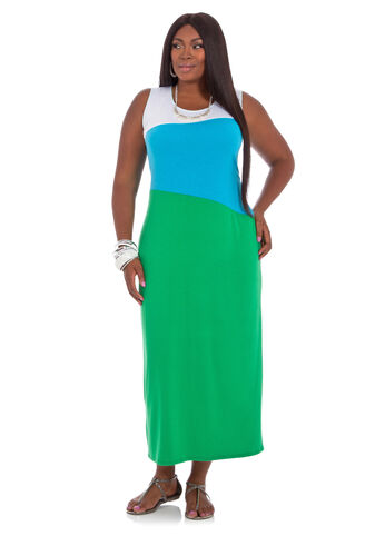 Tritone Striped Maxi Dress