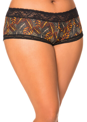 Micro Contrast Lace Hipster Panty