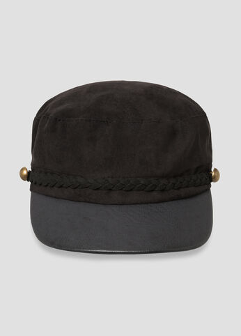 Microsuede Cabbie Hat