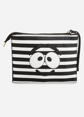 Smile Striped Wristlet