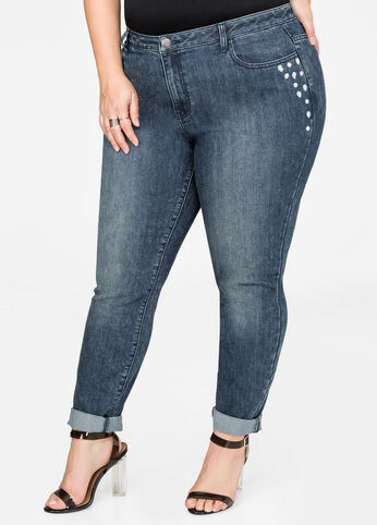 Jewel Detail Skinny Jean