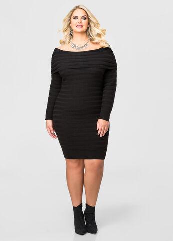 Striped Marilyn Sweater Dress